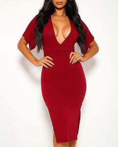 Adeline Midi Dress - Wine | BlissBabe