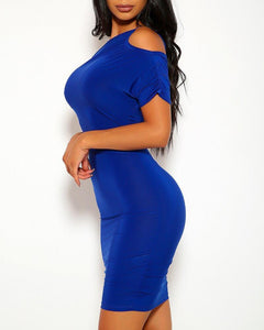 Addison Mini Dress - Blue | BlissBabe