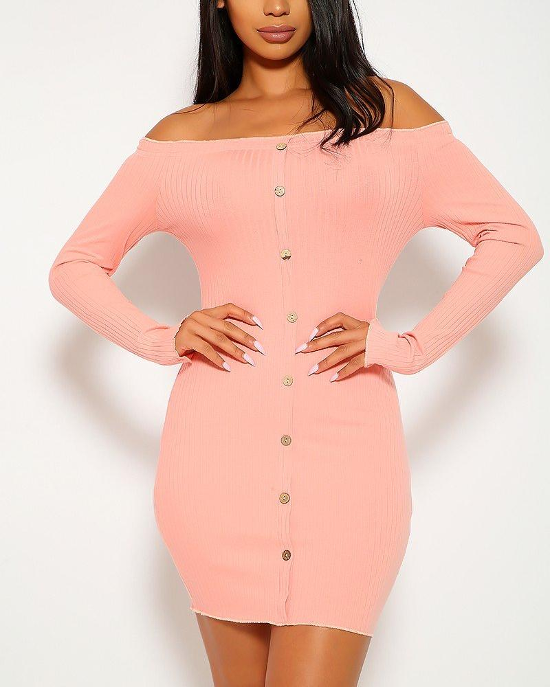 Grace Mini Dress - Pink