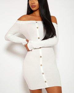 Grace Mini Dress - White