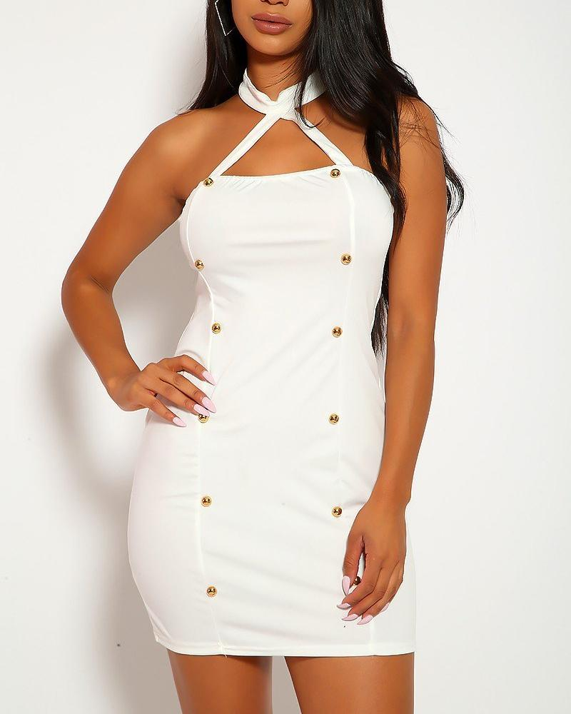 Brenda Mini Dress - White | BlissBabe