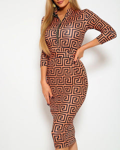 Status Queen Midi Dress - Copper