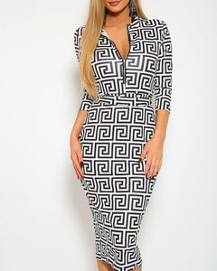 Status Queen Midi Dress - White