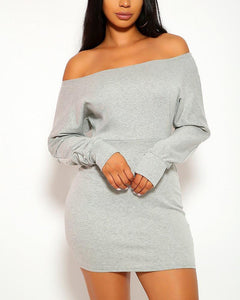 Denice Mini Dress - Gray