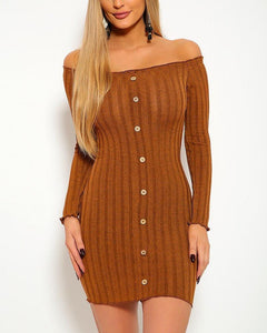Grace Mini Dress - Mocha