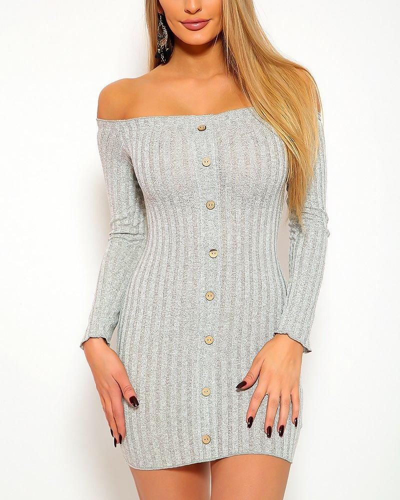 Grace Mini Dress - Gray