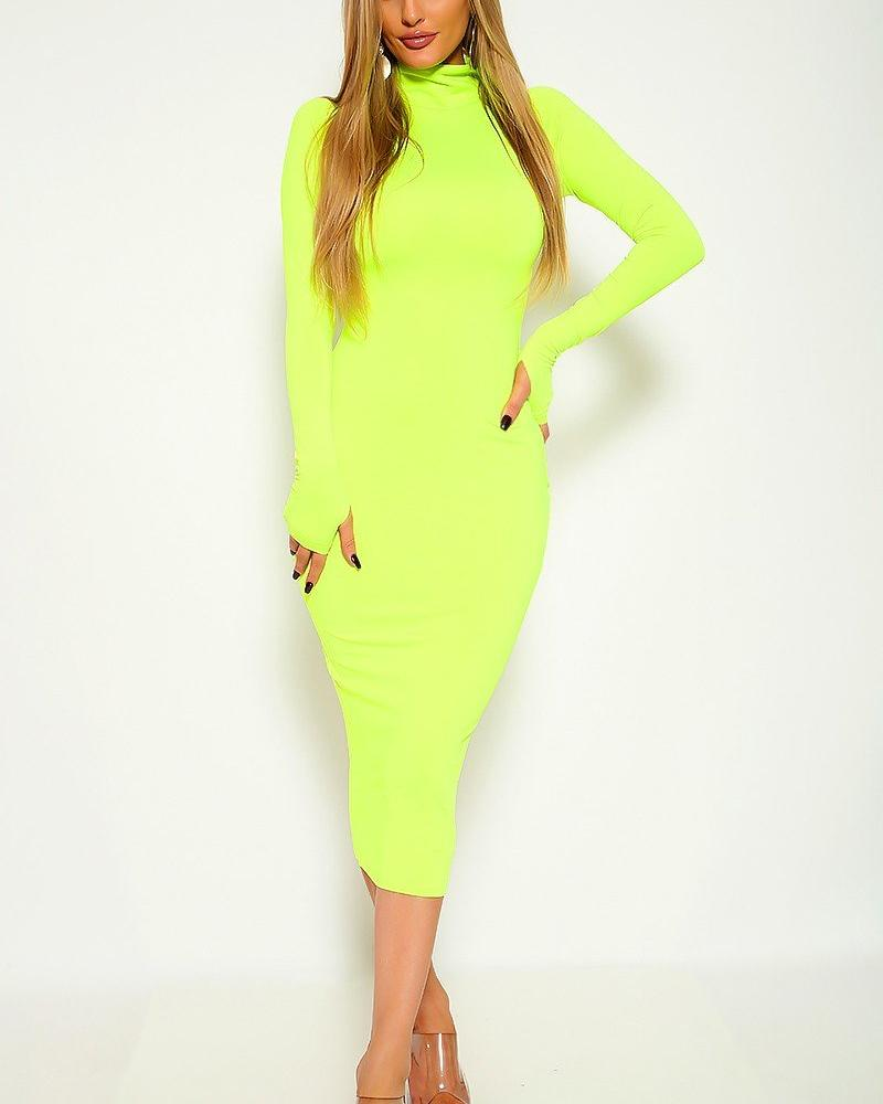 Bethany Midi Dress - Lime Green | BlissBabe