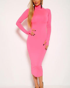 Bethany Midi Dress - Pink | BlissBabe