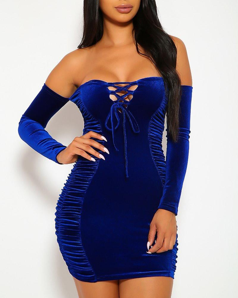 Bia Mini Dress - Royal Blue | BlissBabe