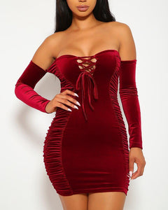 Bia Mini Dress - Red | BlissBabe