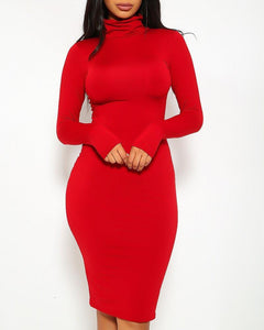 Bianca Midi Dress - Red | BlissBabe