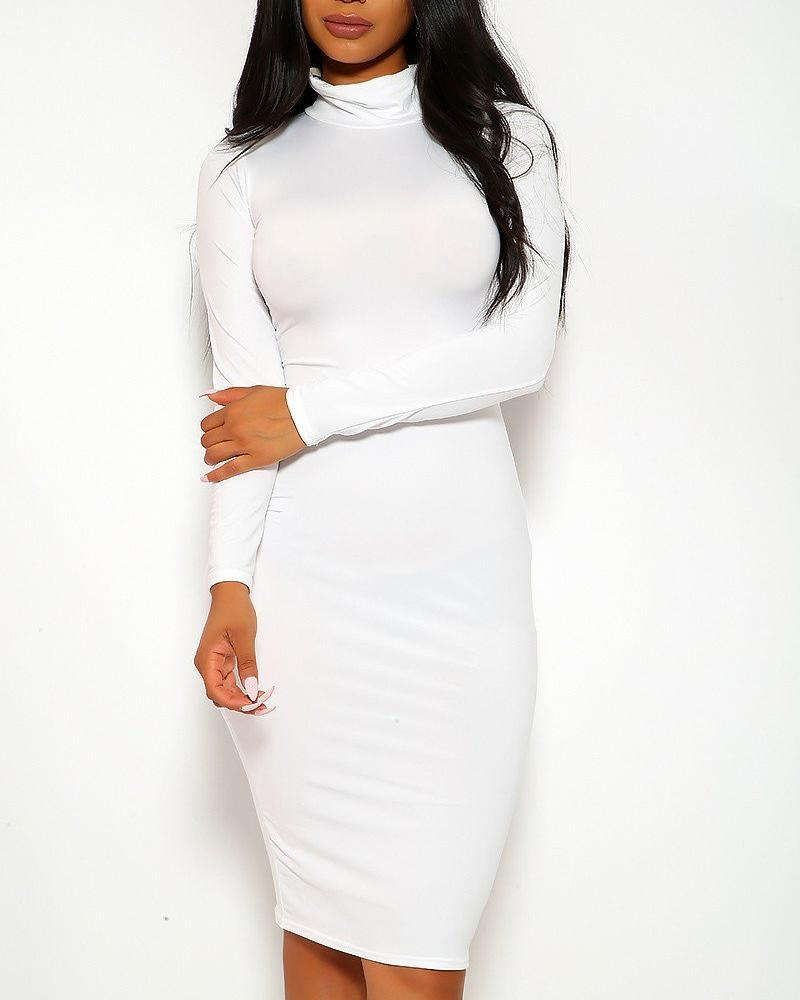 Bianca Midi Dress - White | BlissBabe