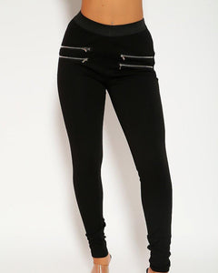 Xena High Waist Legging Pants - Black | BlissBabe