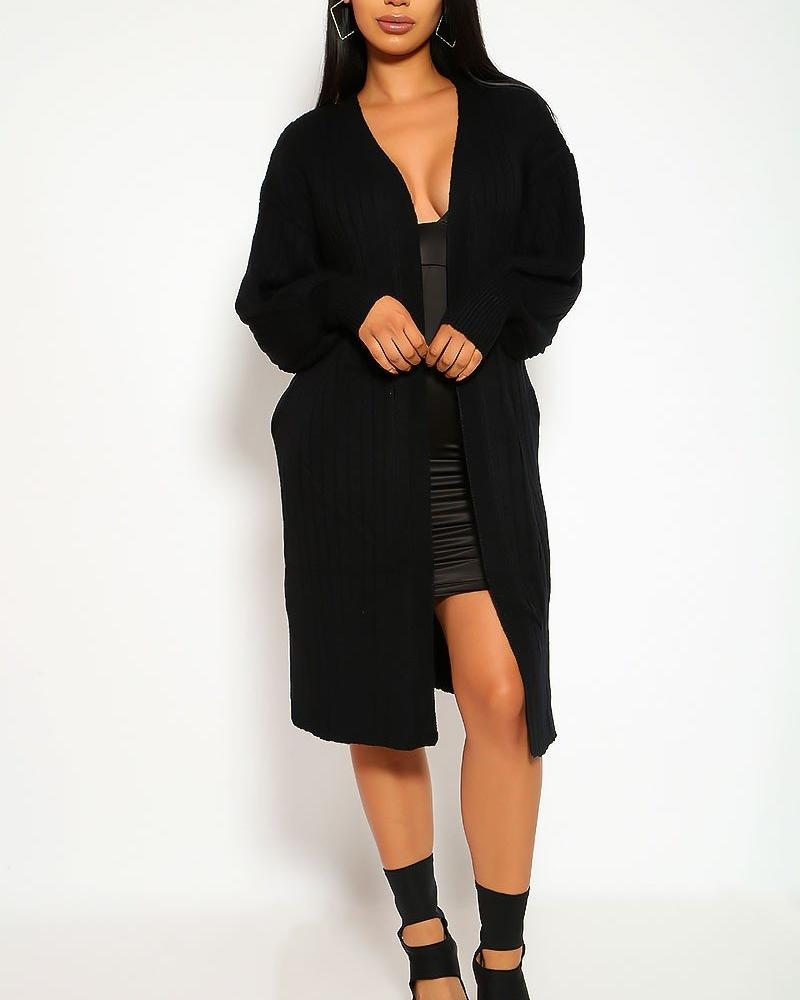 Carmen Cardigan Sweater - Black | BlissBabe