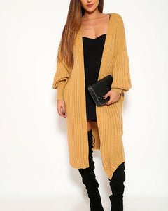 Carmen Cardigan Sweater - Tan | BlissBabe