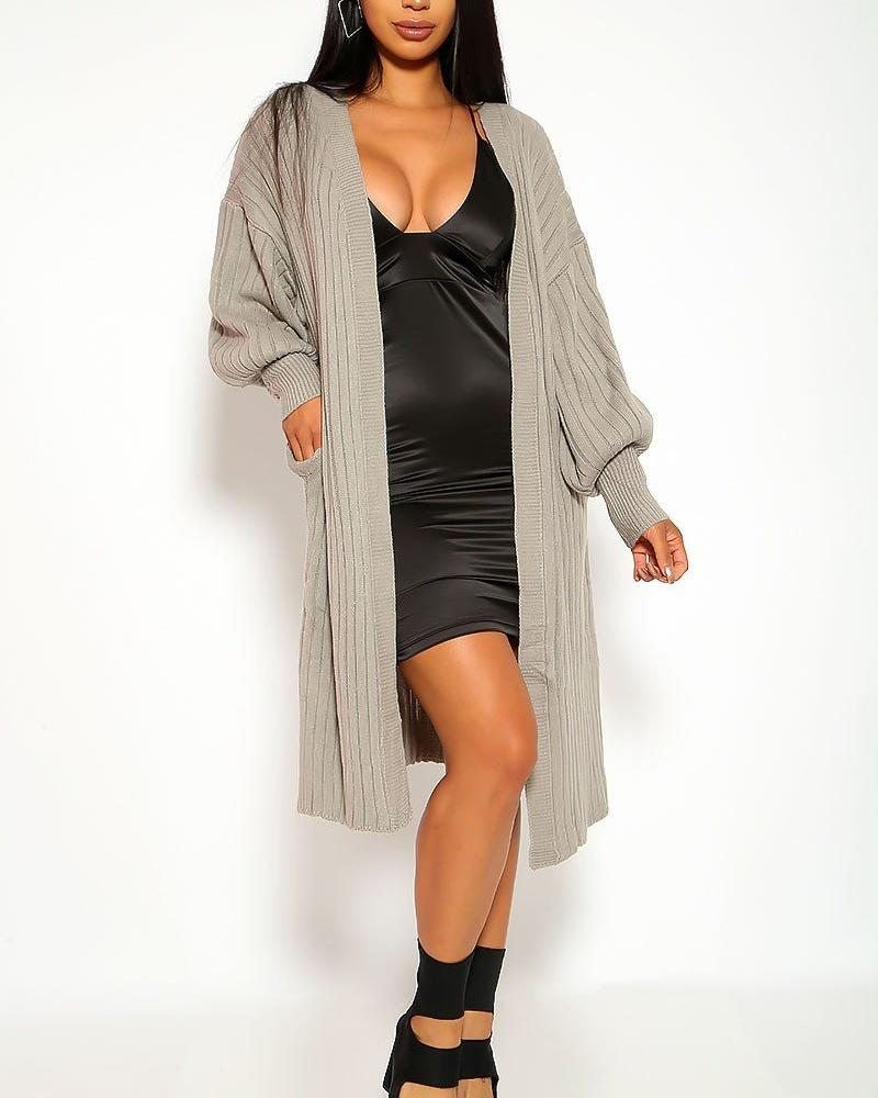 Carmen Cardigan Sweater - Gray | BlissBabe