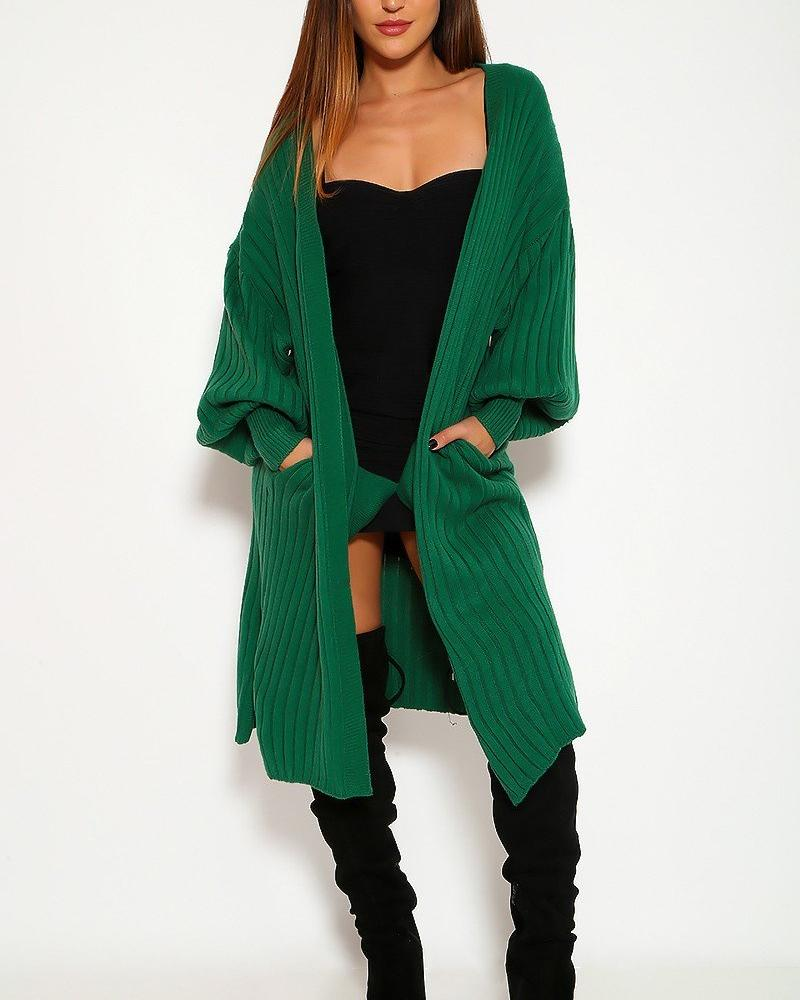 Carmen Cardigan Sweater - Green | BlissBabe
