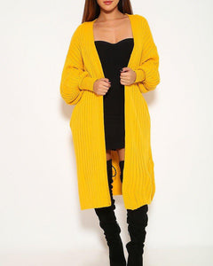 Carmen Cardigan Sweater - Mustard Yellow | BlissBabe