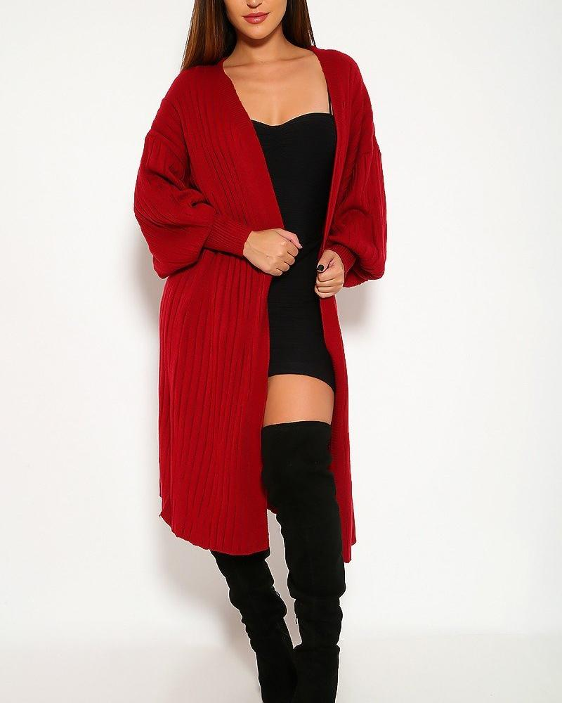 Carmen Cardigan Sweater - Wine Red | BlissBabe