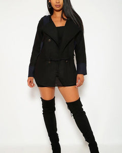 Sierra Blazer Coat - Black