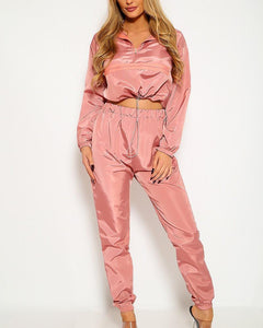 Wendy Windbreaker Set - Pink | BlissBabe
