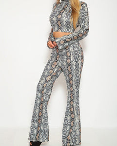 Sarai Pants Set - Snakeskin