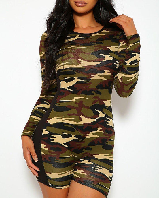 Maykela Camo Playsuit