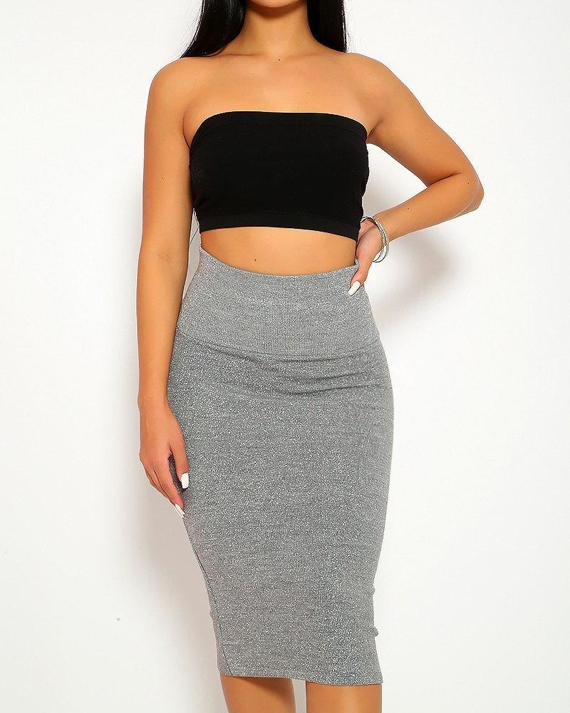 Chanel Pencil Skirt - Gray | BlissBabe