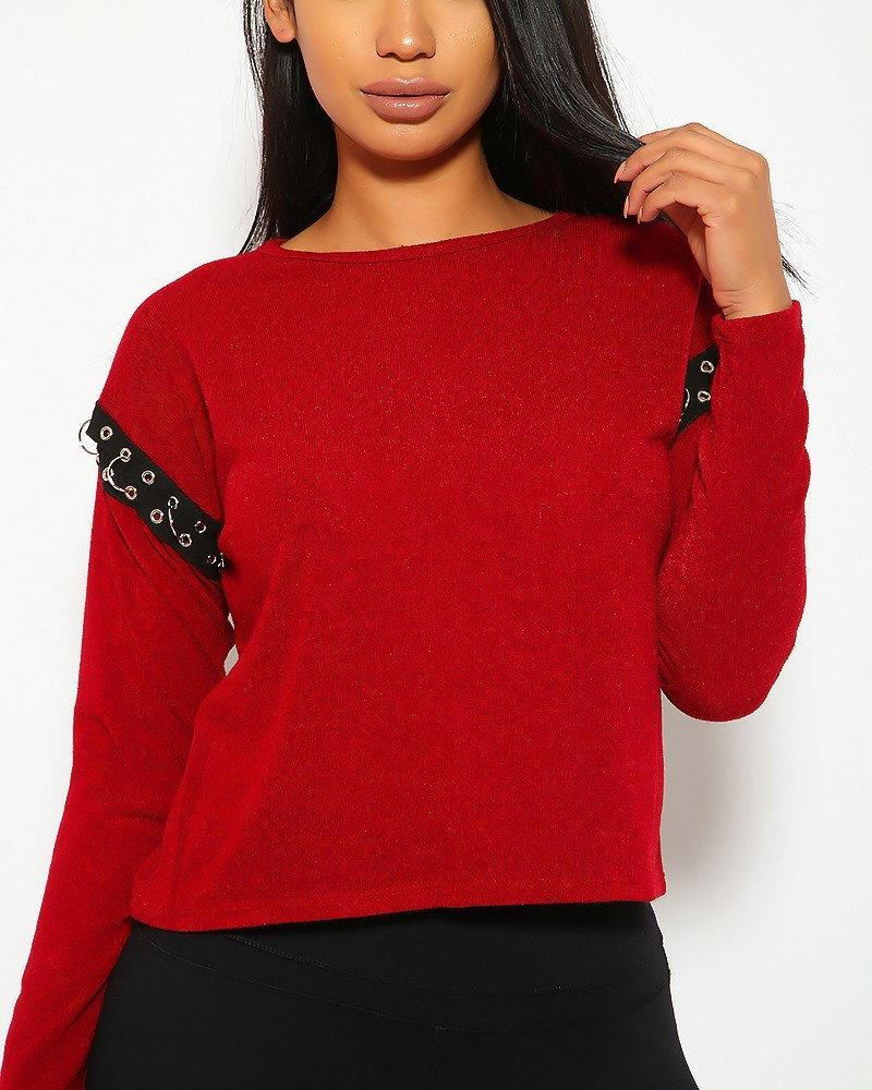 Roxie Chain Top - Red