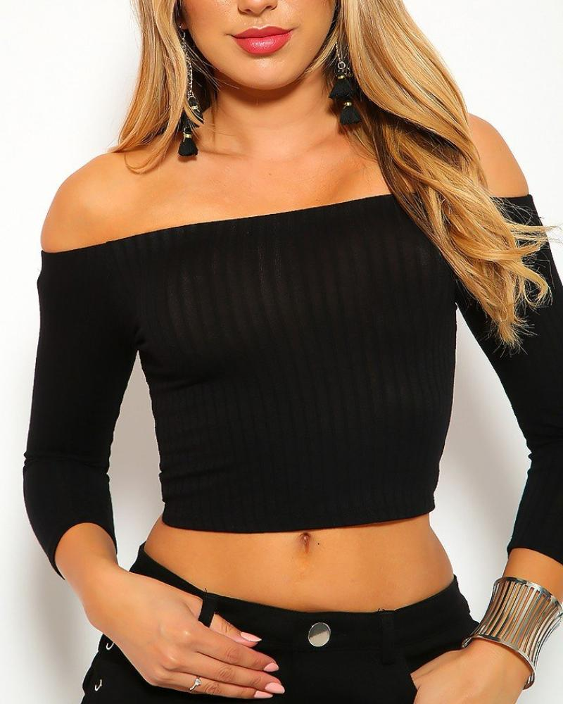 Aisha Crop Top - Black | BlissBabe