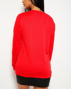 Warm Hugs Sweater - Red | BlissBabe