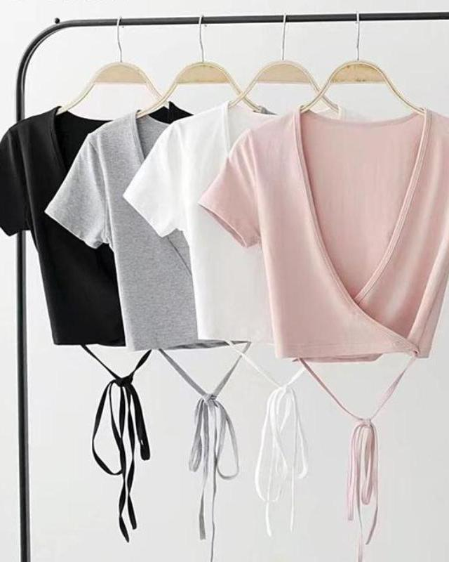 Paige Basic Wrap Crop Top | BlissBabe
