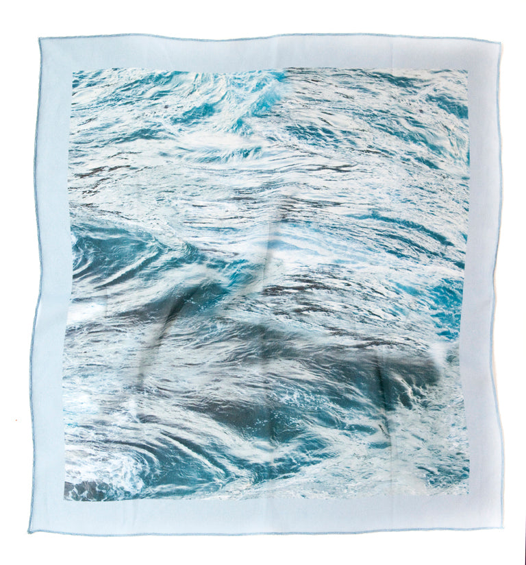 French Silk Scarf in Emerald Sea