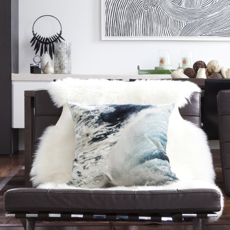 Cushion Velvet Bronte Surf