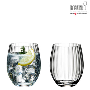 RIEDEL TUMBLER COLLECTION OPTICAL O LONG DRINK 2 GLASSES