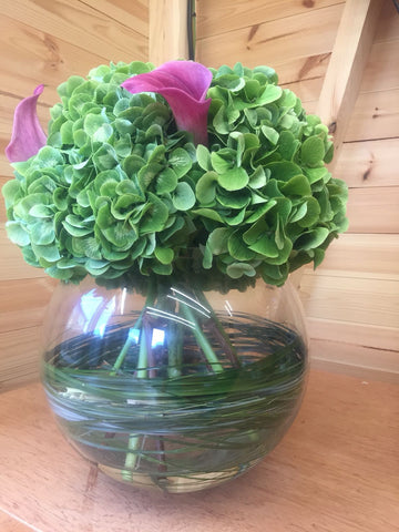 Holly's Hydrangeas with Vase