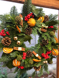 Traditional Fruit Christmas Wreath