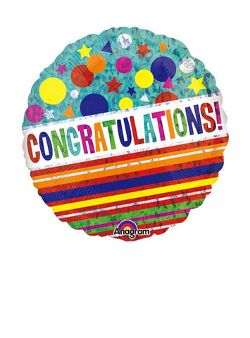 Colourful Congrats Balloon