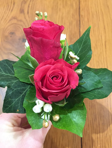 Dual Rose Buttonhole