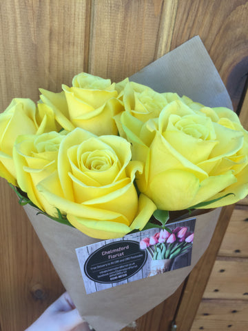 Yellow Sunshine Rose Bunch