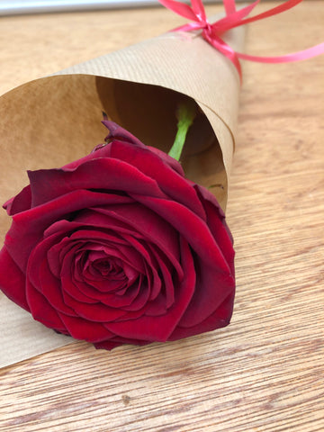 Single Rose Wrap - Choose your Colour