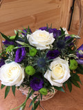 Violet & White Delight Basket