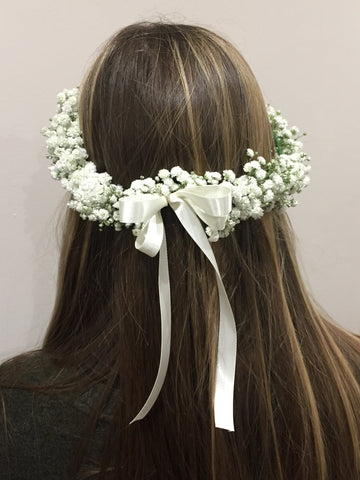 Gypsophila Wedding Halo