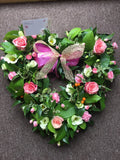 Cherish and Love Heart Wreath