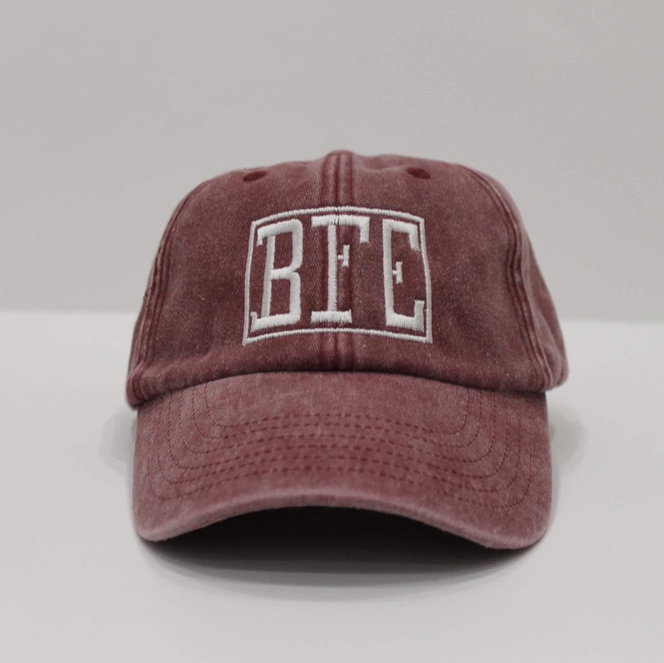 BFE Red-Denim Dad Hat