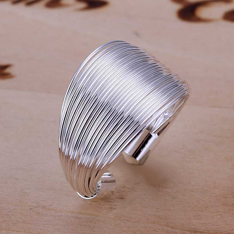 Multi Line Silver Fashion Ring