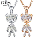 Sweater Zircon Bear Pendant And Necklace For the Animal Lover