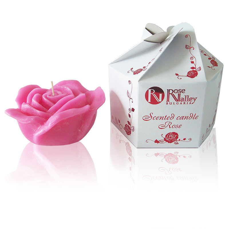 Scented Pink Rose Candle and Packaging 310g
