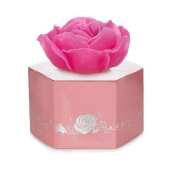 335g pink floating rose candles and box