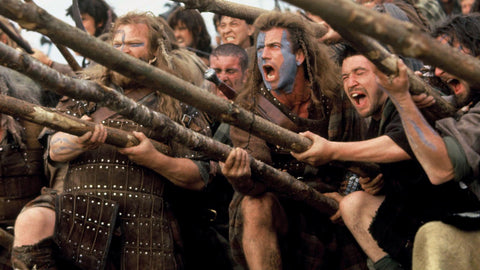 The Scots during their moment of jubilation